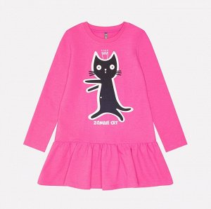 Платье для девочки Crockid КР 5550 ярко-розовый к215