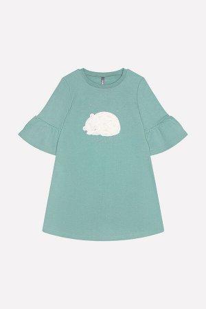 5556 Платье/серо-зеленый к219