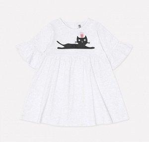 Платье для девочки Crockid КР 5547 светло-серый меланж к213