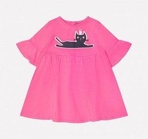 Платье для девочки Crockid КР 5547 ярко-розовый к213