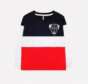 Джемпер для мальчика Crockid КР 300769 черный, серый меланж, красный к216