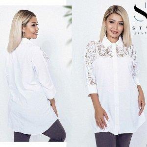 Белая блузка, на 50-52 размер.