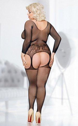 Костюм-сетка SoftLine Collection Ladybird, черный, XL/XXXL