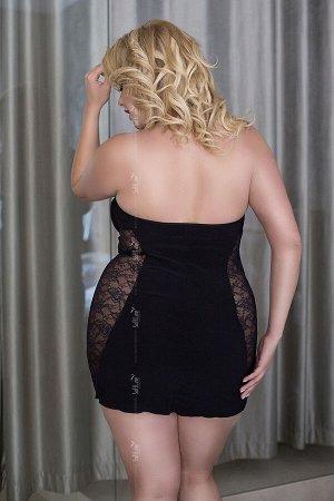 Ночная сорочка SoftLine Collection Sophie, черный, XL