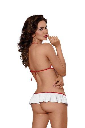 Боди медсестры SoftLine Collection Lea, белый, S/М