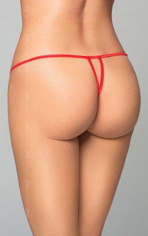 Стринги с сердечком SoftLine Collection, красный, S/L