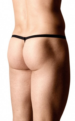 Стринги мужские с полосками SoftLine Collection, чёрный, OS