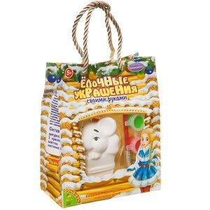 """Набор для творчества  BONDIBON. """"Новогодние украшения"""" Мышка в упаковке сумочка"""