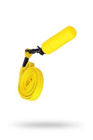 Вибратор Sexus Funny Five, ABS пластик, желтый, 5,5 см, 1 шт