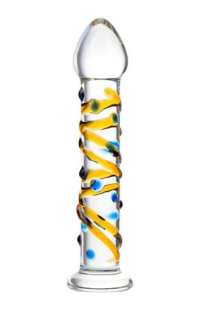 Нереалистичный фаллоимитатор Sexus Glass, стекло, прозрачный, 17,5 см