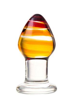 Анальная втулка Sexus Glass, стекло, прозрачная, 9 см, ? 4 см