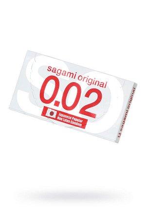 Презервативы полиуретановые Sagami Original 0.02  УЛЬТРАТОНКИЕ,гладкие №2