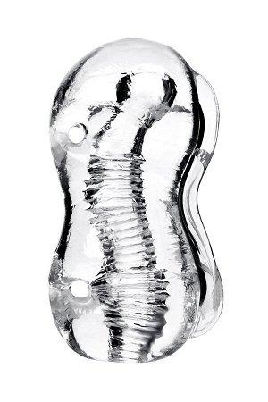 Мастурбатор нереалистичный Lingam by TOYFA  Indira , TPE, Прозрачный, 14 см