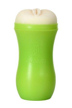 Мастурбатор TOYFA A-Toys, вагина, зеленый/телесный, 14 см