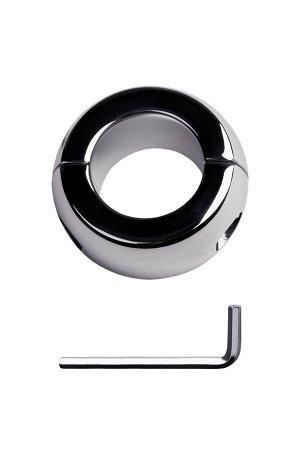 Утяжелитель на мошонку, TOYFA Metal, серебристый, ?4см, 420г