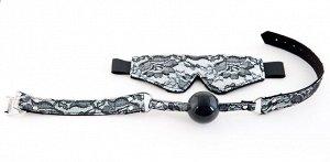 Кружевной набор TOYFA Marcus (маска и кляп), серебристый