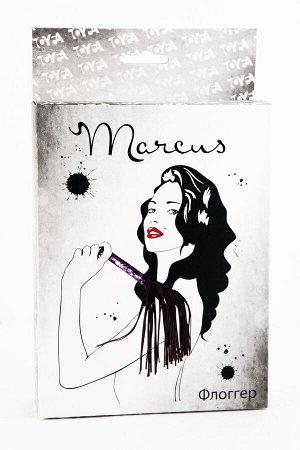 Флоггер с кружевной ручкой TOYFA Marcus, пурпурный, 38 см