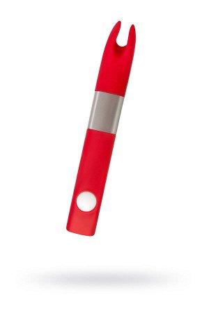 Вибратор клиторальный 4Gb USB памяти, 7 режимов вибрации, красный