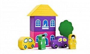 Конструктор «Цветной городок» фиолетовый