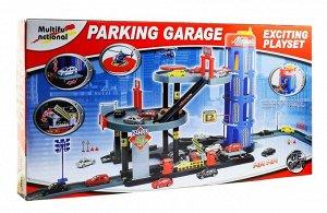 Паркинг Страна: Китай; Упаковка: Картон; Материал: Пластик; Размер упаковки: 72х40х9 см Набор позволяет собрать 4-х уровневую парковку с лифтом, местами для стоянки, разметкой, мойкой, заправкой, мест
