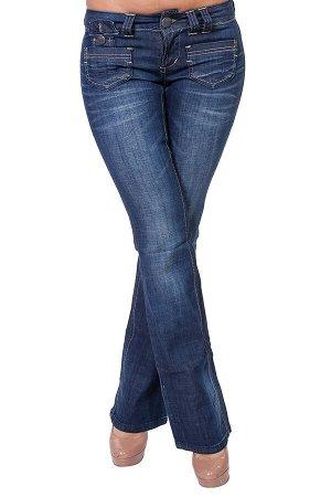 В меру расклешенные женские джинсы Миниатюрные кармашки, эффектный клеш от колена, широкий пояс №112 ОСТАТКИ СЛАДКИ!!!!
