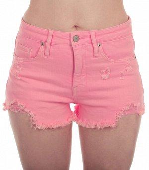 Обрезанные женские шорты MOSSIMO с бахромой и потёртостями на розовом дениме. Правильно обтягивающая модель в размерах от XXS до XXL №317 ОСТАТКИ СЛАДКИ!!!!
