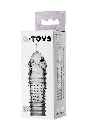 Насадка на пенис TOYFA A-Toys  , TPR, Прозрачный, 15,3 см