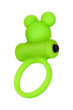 Виброкольцо на пенис A-Toys by TOYFA, силикон, зеленое, ? 3,1 см
