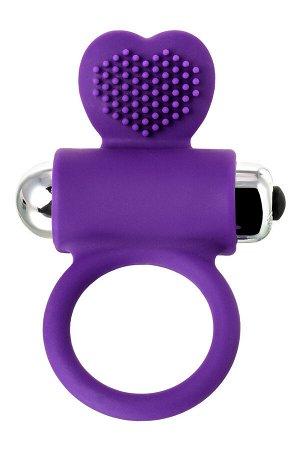 Виброкольцо с ресничками JOS PERY, силикон, фиолетовый, 9 см