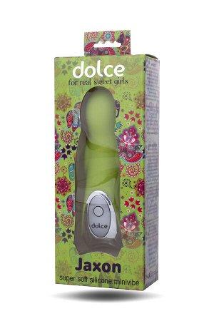 Вибратор TOYFA Dolce Jaxon, силикон, зеленый, 12,5см