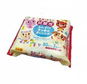 Детские влажные салфетки для тела     80 шт* 3 уп
