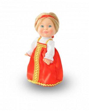 Веснушка в русском костюме (девочка) (кукла пластмассовая) В2910