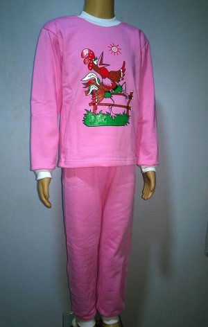 Принт пижама футер детская