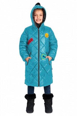 80530/2 (голубой) Пальто для девочки