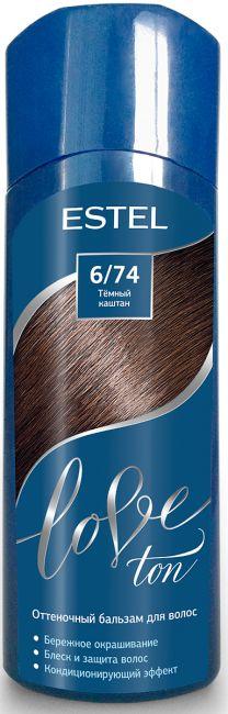Оттеночный бальзам для волос ESTEL LOVE TON 6/74 Темный каштан