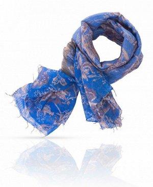Палантин Базовый цвет: Синий Цвет: Кобальтовый, бежевый, горький шоколад  Роскошный кобальтовый цвет придает этому палантину Michel Katan? особенную торжественность - впрочем, такую, которая уместн