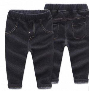 Утепленные штаны для мальчика. Цвет черный.