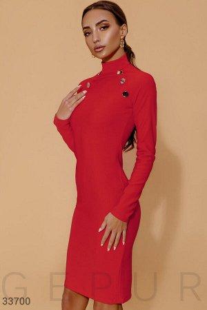 Облегающее платье с декором