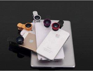 Объектив для смартфона 3 в 1 - Набор Fisheye (рыбий глаз) Wide Macro