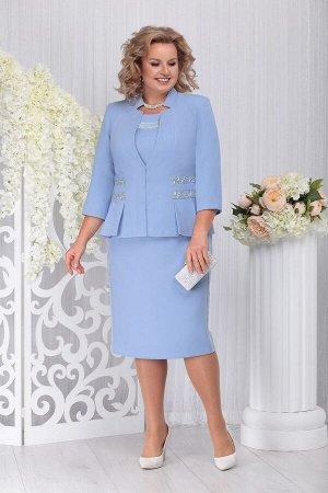 Жакет, блуза, юбка Ninele 5740 голубой