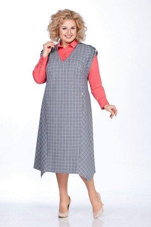 Блуза, сарафан LaKona Артикул: 1251 серый-коралл