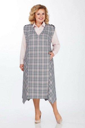 Блуза, сарафан LaKona Артикул: 1251 серый-пудра