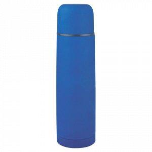 Термос ЛАЙМА классический с узким горлом, 0,75 л, нержавеющая сталь, синий, 605123