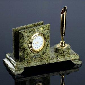 Визитница «Мини»: подставка для ручки, часы, микс