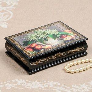 Шкатулка «Ландыши в кувшине», 10?14 см, лаковая миниатюра