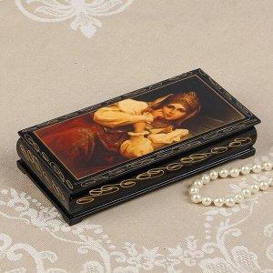 Шкатулка - купюрница «Русская красавица», 8,5?17 см, лаковая миниатюра
