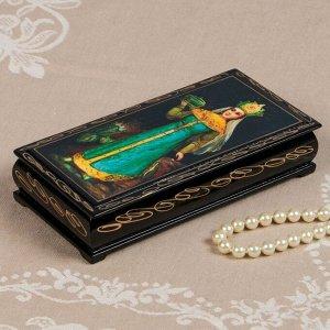 Шкатулка - купюрница «Сказки», 8,5?17 см, лаковая миниатюра