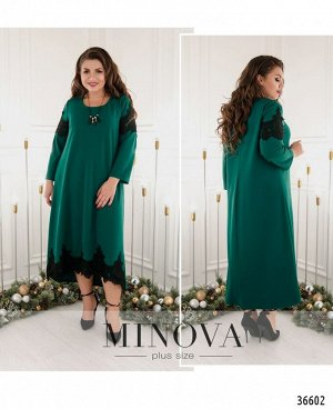 Платье №146А-зеленый