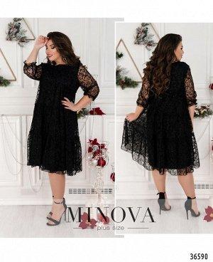Платье №8620-1-1-черный