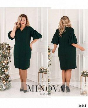 Платье №4120СБ-1-темно-зеленый